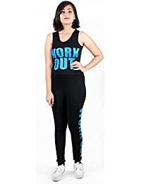 Tycos Black & Blue Color Work Out Lower With Top