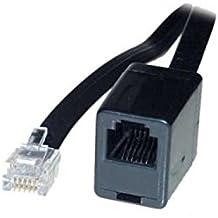 6m ISDN Telefon Kabel Verlängerung schwarz RJ45 8//4 Western Stecker /> Kupplung