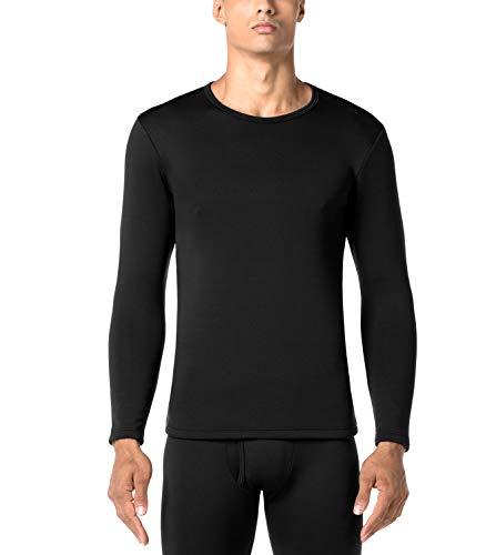 Lapasa uomo maglia termica invernale ad alta densità t-shirt maniche lunghe ultra termico heavyweight m26 (x-large, nero)