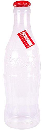 FF11- Elegante botella hucha de plástico para monedas o billetes. Gran tamaño, 60cm, Original Coca Cola 35cm/1ft