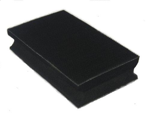 Handschleifklotz 70x125mm - doppelseitig hart/soft - für Klett-Schleifscheiben - Schleifblock zum...