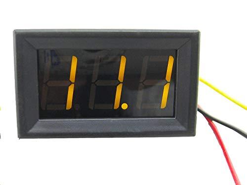 "DC Volmenter,Yeeco 0,56 ""Digitaler Spannungsmesser 3V-30V Volt Controller LED Panel Voltmeter, Messbereich DC 0-100V 3-Draht-Autobatterie-Monitoranzeige (gelb)"