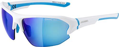 Alpina Unisex- Erwachsene LYRON HR Sportbrille, weiß, One Size