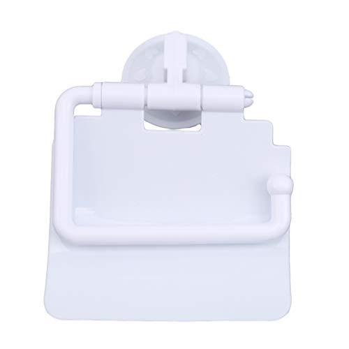 HYhy Saugnapf Toilettenpapierhalter Wasserdichte Wand Bad Tissue Storage Ständer mit Wasserdichter Schallwand für Home Hotelgebrauch, Weiß