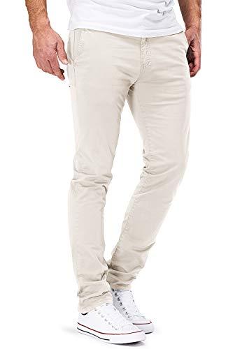 DSTROYED ® Chino Herren Slim fit Chinohose Stretch Designer Hose Neu 505 (32-32, 505 Beige) Beige Chino