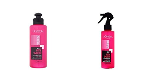 Loreal Studio Line Hot & Sleek Straight Cream And Hot & Smooth Straight Spray Combo (200 mL*2) 400 mL  available at amazon for Rs.1867