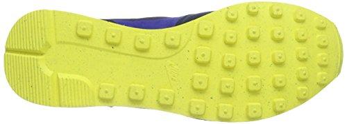 Nike Internationalist Leather Herren Sneakers Blau (Mid Nvy/Mid Nvy-Lt Vltg Ylw I)