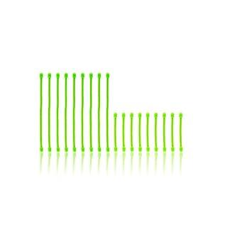 RESPEKT Wiederverwendbare Kabelbinder 18tlg. (grün)
