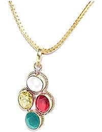 Scorpio Zodiac Rudra Divine Self Certified Multicolor 100% Original Semi Precious Gemstone Prosperity Pendant...