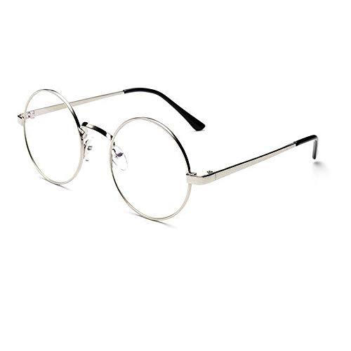 VRTURRetro Runde Brille Mit Fensterglas Damen Herren Brillenfassung, 5 Paar(One size,B)