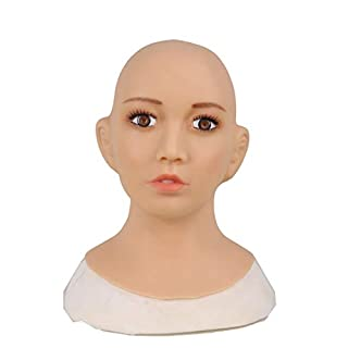 Ajusen Sexy Silicone Mask Female Masks Pretty Halloween Christmas Masks Angel Face Cosplay Male to Female for Crossdresser Transgender Shemale
