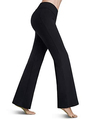 Bamans Yoga Dress Pants für Damen, Bootcut Yogahose, weites Bein Arbeitshose