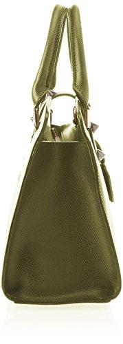 Chicca Borse 8844, Borsa a Spalla Donna, 28x22x12 cm (W x H x L) Verde (Verde)