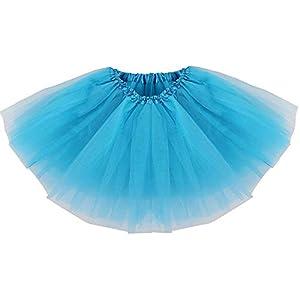 Ksnrang Damen Tütü Rock Minirock 3 Lagen Petticoat Tanzkleid Dehnbaren Mini Skater Tutu Rock Erwachsene Ballettrock Tüllrock für Party Halloween Kostüme Tanzen
