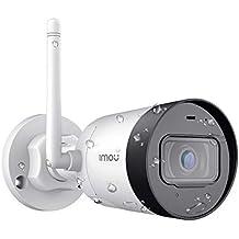 Imou WLAN IP Kamera, Überwachungskamera Aussen 1080P Wetterfeste IP67 erstklassige IP WLAN-Kugelkamera mit externer Antenne, eingebautem Mikrofon, Bewegungserkennung und Nachtsicht
