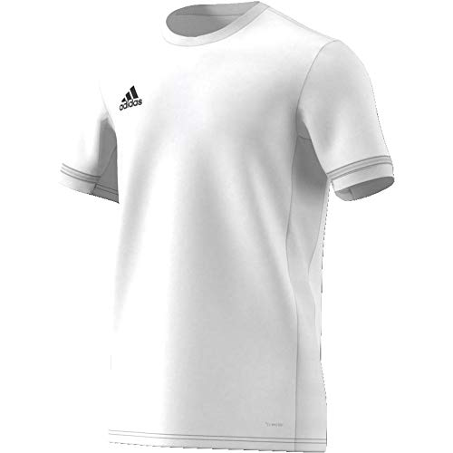 adidas Team19 Jersey SS Maillot Homme, White, FR (Taille Fabricant : 2XL)