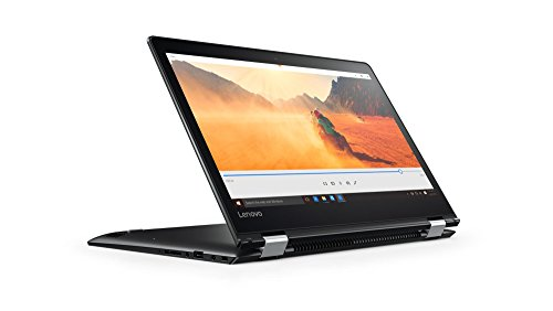Lenovo Yoga 510 35,56cm (14 Zoll HD Anti-Glare) Convertible Notebook (AMD A6-9210, 8GB RAM, 128GB SSD, AMD Radeon R4 Grafik, Windows 10 Home) schwarz -