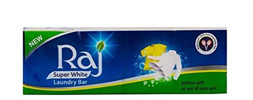 RAJ SUPER WHITE Raj Laundry Soap - 1 kg (White)