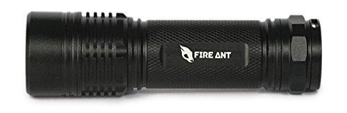Fire Ant PT320 Taktische LED-Taschenlampe, sehr hell und zoombar, 300 Lumen, Cree-Glühbirne mit 3 AAA-Batterien Stoßfest, wetterfest und farbenfroh für Survival, Camping, Angeln, Wandern