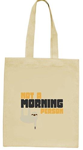 Faultier natur Jutebeutel Stoffbeutel mit Not A Morning Person Motiv von ShirtStreet Natur