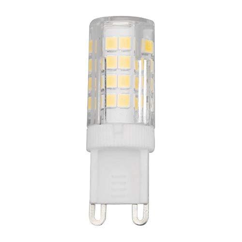 JUNERAIN Jaserain LED-Kronleuchter, 5 W, 52 SMD2835, G9, Maiskolben-Glühbirne, Kerzen-Lampe, Heimdekoration, Damen, warmweiß