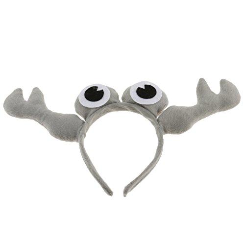 chen Maskerade Partei Krabbe Stirnband Haarschmuck Halloween Party liefert Cartoon Tier - Grau, 11 cm ()