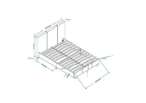 MODERNIQUE� 4ft6 Double Black Designer Modern Faux Leather Bed Frame