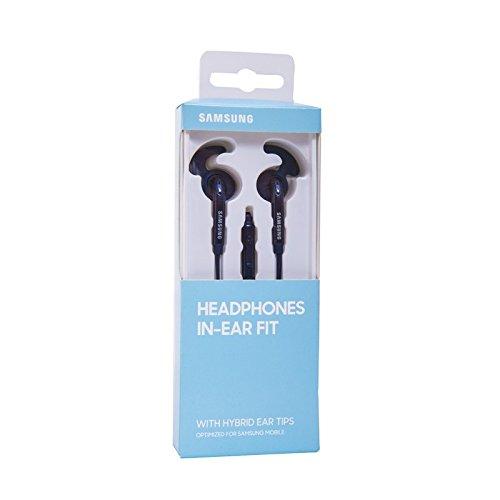 Auriculares Original Samsung EO-EG920BB para Galaxy S6, S7, S8, Edge, Plus, Note 4, 5, 8, Azul Oscuro - Negro, Blister