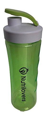 Nutrilovers Trinkflasche BPA-Frei, Shaker 600ml, grün