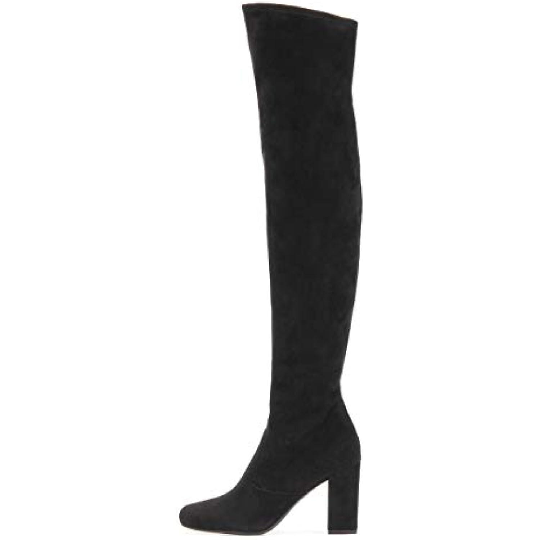 Hy Chaussures Femme Bottes Mode Automne/Hiver en Talons Daim Bottes Bottes à Talons en Chunky Grandes Bottes Longues Bottes... - B07JPXLF3G - 70072e