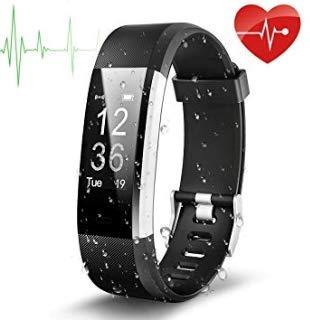 Fitness-Armbanduhr, Fitness-Tracker, Herzfrequenz-Monitor, wasserdichte Fitness-Uhr, Smart-Armband, Bluetooth Uhr mit Schlafüberwachung, Schrittzähler