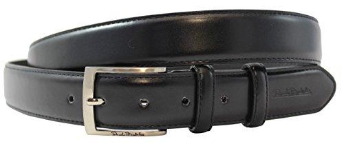 Cintura in pelle di Renato Balestra® nichel libera fibbia e con confezione regalo. Colore: Nero nero Medium