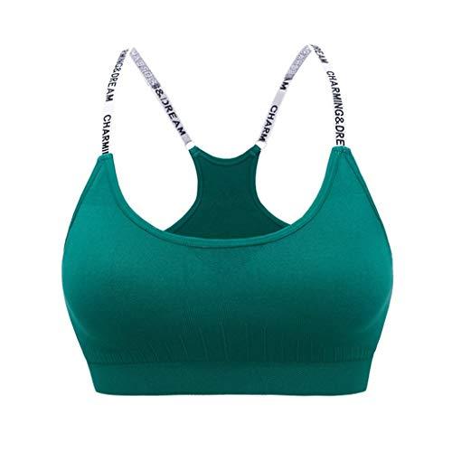 Damen Dessous Weihnachten Luckycat Sport BHS Gepolsterte, Nahtlose, hochwirksame Unterstützung für Fitnessstudio im Fitnessstudio Underwear Unterwäsche Reizwäsche