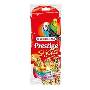 Versele Laga Prestige Sticks per Cocorite - Multipack 3 pezzi: 1 Miele, 1 Frutta Esotica, 1 Frutti di Bosco