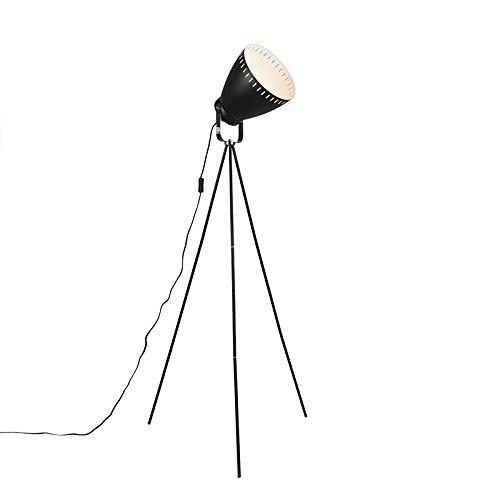 eth-lampadaire-karo-noir-metal-rond-compatible-pour-led-e27-max-1-x-60-watt