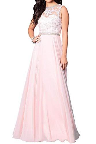 Aurora dresses Damen Chiffon Applikationen Abendkleider Lang Hochzeit Brautkleid...
