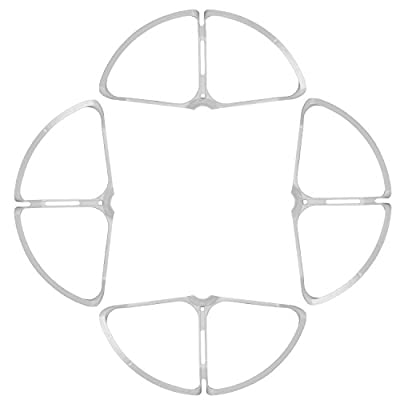 Neewer 4 Pieces Removable Propeller Guards, Prop Guards, Propeller Protectors for DJI Phantom 4, ABS Plastic Material, a Must for Beginners and Junior Users (White)