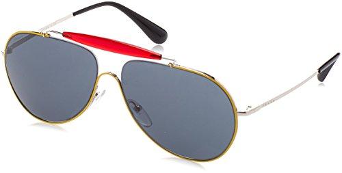 Prada Unisex-Erwachsene 56Ss Sonnenbrille, Top Yellow/Silver, 59