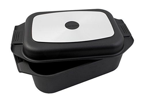 Karcher Bräter 2in1 (Aluguss, 8,7 Liter, inkl. Deckel und Topfhandschuhen) schwarz