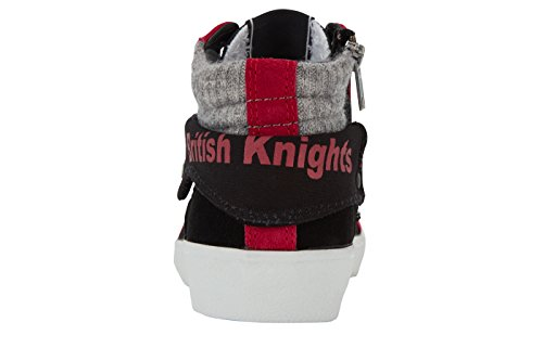 British Knights Rigit, Baskets Basses Femme NOIR/FUCHISA