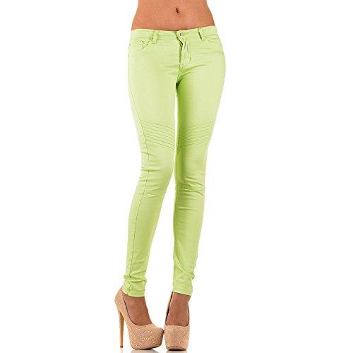 Jeans donna, bambina fianchi SKINNY, KL-J-M088-2 Grün KL-J-M088-5-