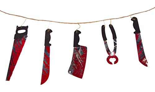 Folat 23747P1 Halloween Girlande-Blutige Werkzeuge 1,8 m lang-ca. 30 cm breit, Mehrfarbig