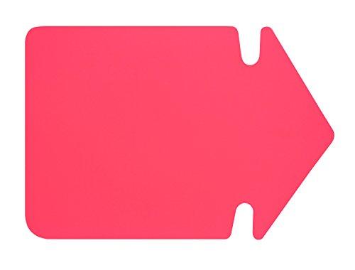 folia 667 926 - Werbesymbol Pfeil, ca. 24 cm, 20 Stück, leuchtrot aus doppelseitigem Leuchtkarton