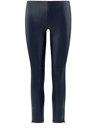 oodji Ultra Damen Hose aus Lederimitat Blau (7900N)