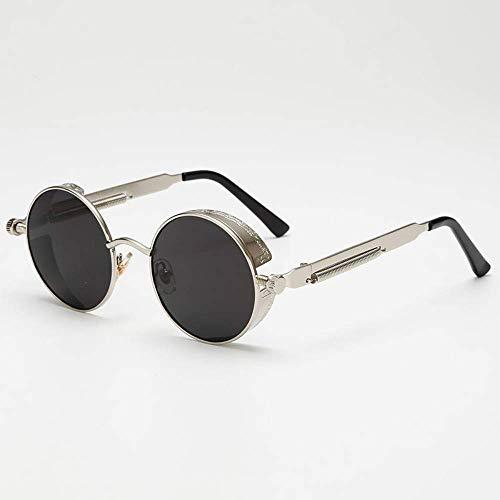 BAIF Sonnenbrille Runde Steampunk-Sonnenbrille aus Metall Herren Damen Brillen Sonnenbrillen Uv400 Eyewear