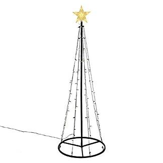 106-LED-warm-wei-Lichtpyramide-mit-Leucht-Stern-Lichterbaum-180-cm-Baum-mit-Stern-Trafo-Timer-Weihnachtsbaum-Xmas-Deko-Auen-Leuchtbaum