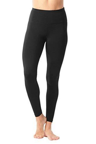 2a8da351c 90 Degree By Reflex - High Waist Power Flex Legging – Tummy Control - Black  Large