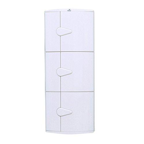 Nilkamal 3-Door Corner Cabinet (Ivory)