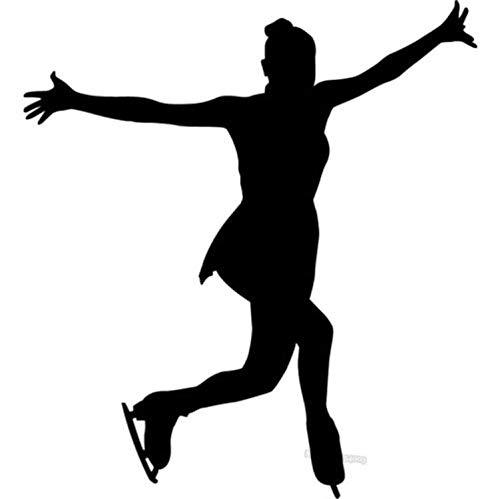 ZHUWall Zhuwalldeporte Tatuajes De Pared Figura Femenina Patinador Patinaje sobre Hielo Patinaje sobre Hielo Etiqueta De La Pared Gym Sports Art Decal para Tenns Dormitorio