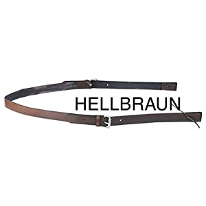 Reitsport Amesbichler Hintergurt Westernsattel Set Leder für Westernsattel Hellbraun Back Chinch and Flank Billets